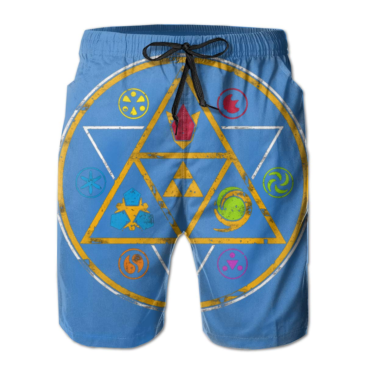 Me Mens Swim Trunks Board Shorts Reality And Ideals Sym Bols of Ti