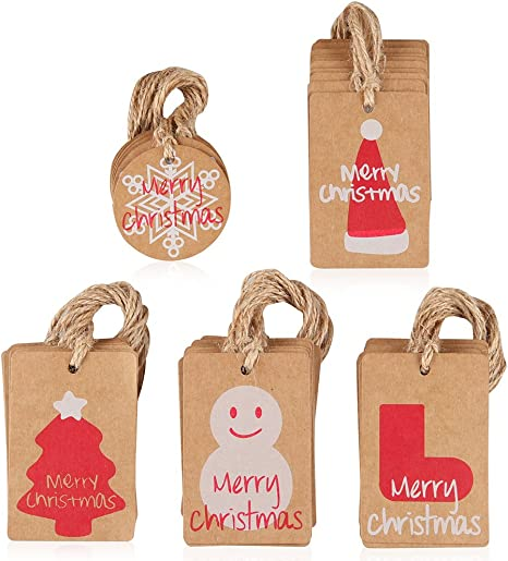 Cardboard label for Christmas 6 very large thick cardboard tag kraft
