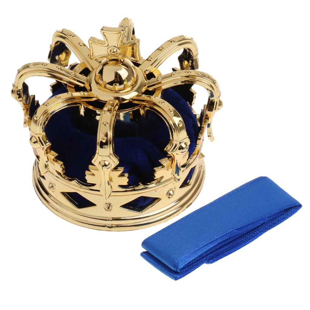 Blue Sharplace Elegant Lady Women Mini Queen Crown Tiara Hat Hair Costume Headband Party Accessories
