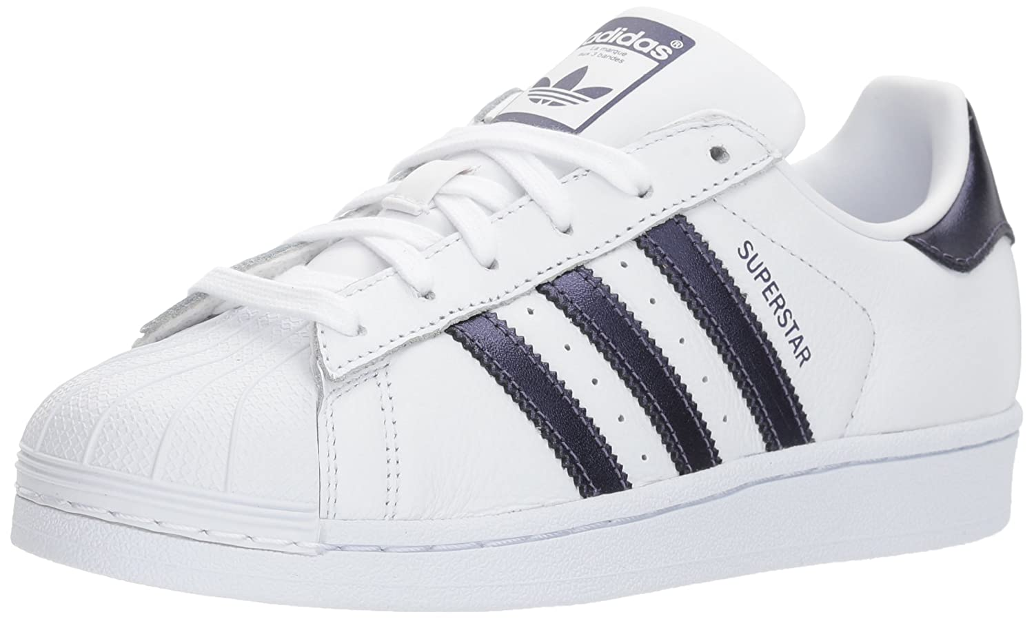 adidas Women's Originals Superstar B071LFFRQD 10 B(M) US|White/Purple Night/White