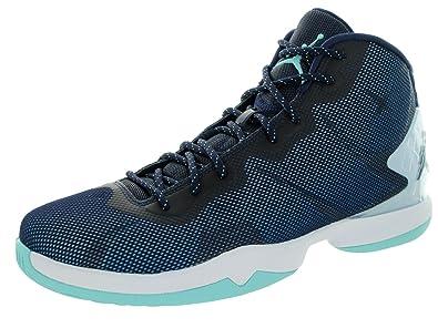 best website 6ed6b ccbaf Schuhe Dunkelblau Weiß Herren Nike Jordan Super.Fly 5 PO Einzigartig  Designed