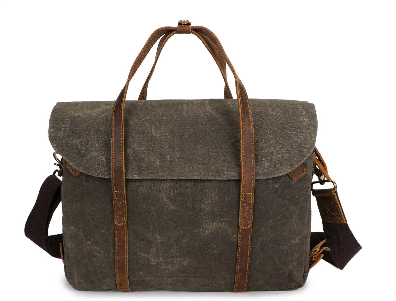 Color : Bronze, Size : M Rouroumaoyi Mens Crossbody Oil Wax Canvas with Crazy Horse Paper Bag Vintage Shoulder Messenger Bag