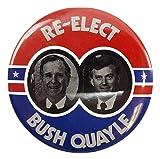 George Bush & Dan Quayle 1988 Campaign Button