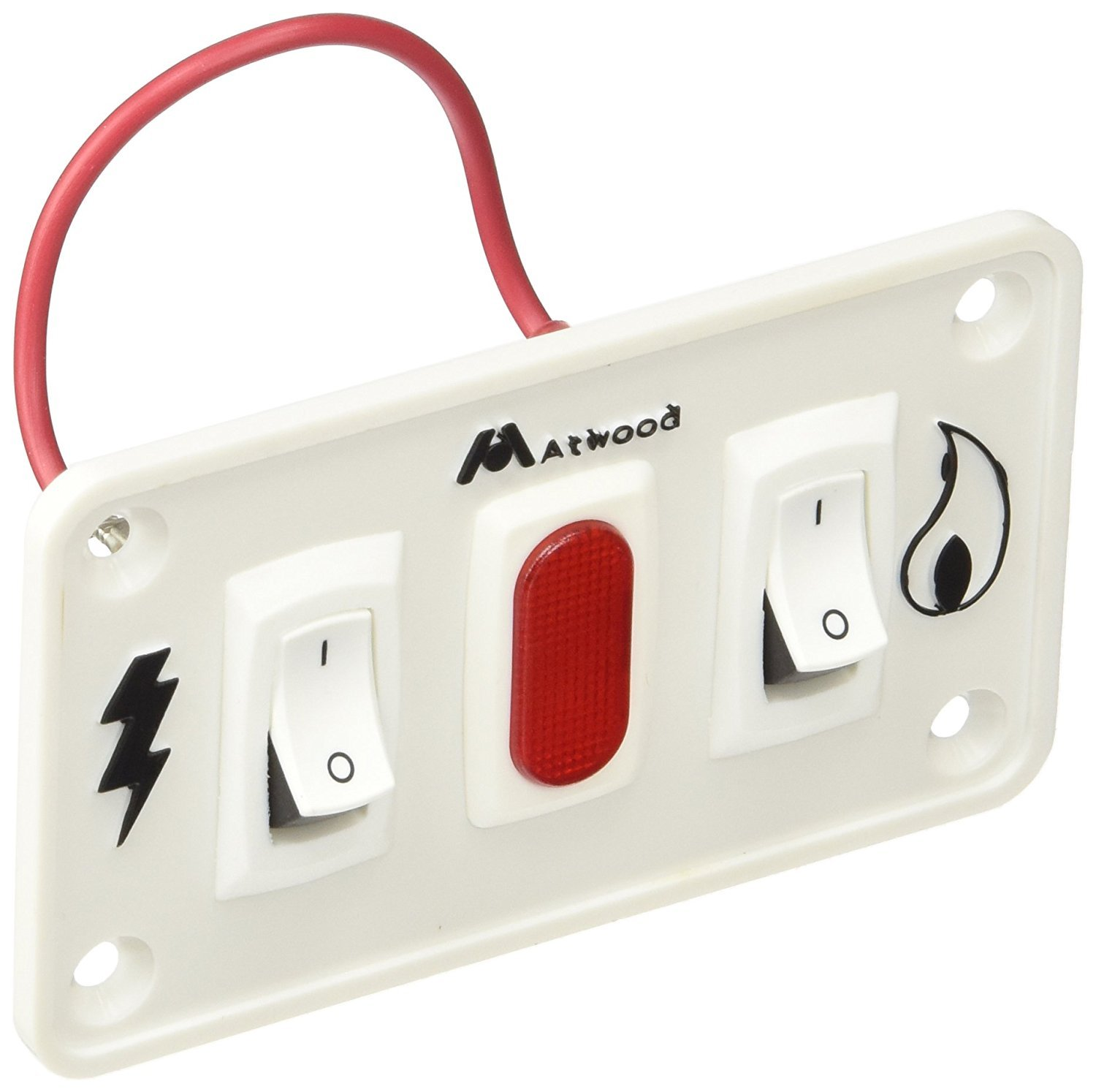 Atwood 91230 White Dual Panel Switch Kit