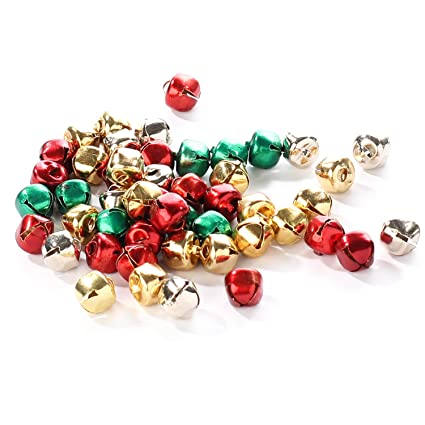 Christmas Bells Images.Package Of 200 Miniature Assorted Holiday Colored Jingle Bells