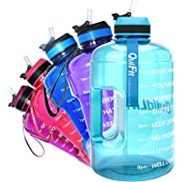 "QuiFit Drinkfles van 2,2 liter, met opdruk: ""Drink Stimultion"" & Flip Riet Grote Drinkfles, Fitness Gym Onderweg Joggen…"