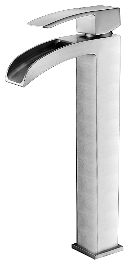 Single Hole Single Handle Bathroom Faucet   Brushed Nickel   Key Series  L AZ097BN