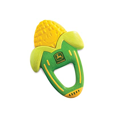 The First Years John Deere Massaging Corn Teether : Baby Teether Toys : Baby