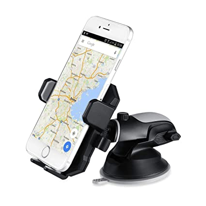 Zoook Transformer Robotic Car Mobile Holder/Car Mount Long Neck 360°  Rotation with Ultimate Reusable Suction Cup (Black)
