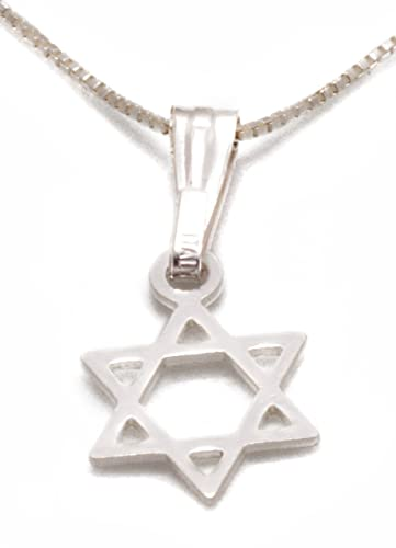 925 sterling silver star of david necklace magen david pendant 925 sterling silver star of david necklace magen david pendant jewish jewellery size 04quot aloadofball Image collections