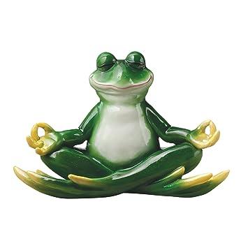 Design Toscano Strike A Pose Zen Yoga Frog Statue