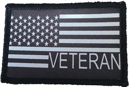 vet veteran USA american flag morale army tactical military hook cap patch
