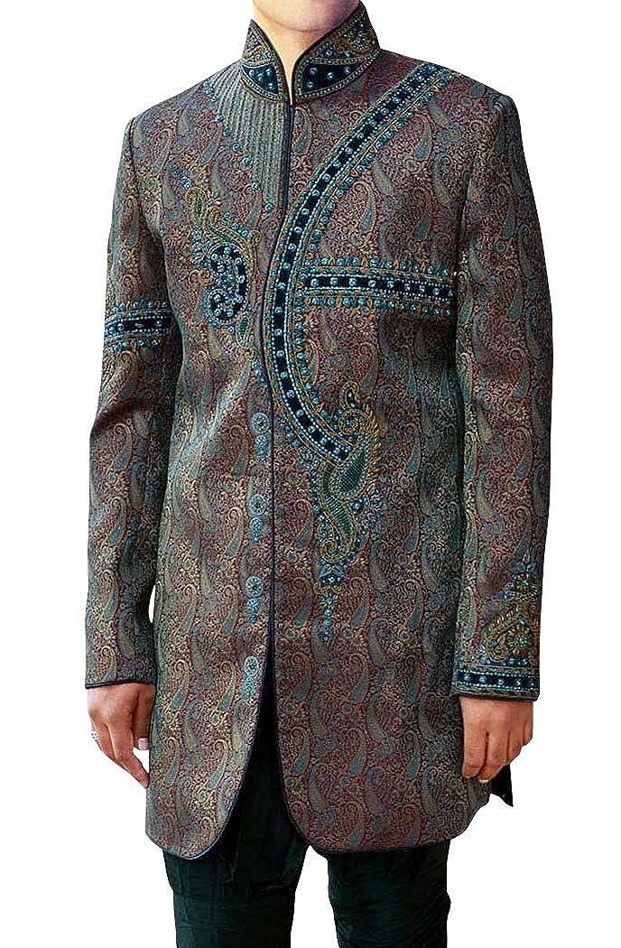 INMONARCH Mens Maroon 2 Pc Indo Western Pakistani Designer IN3481