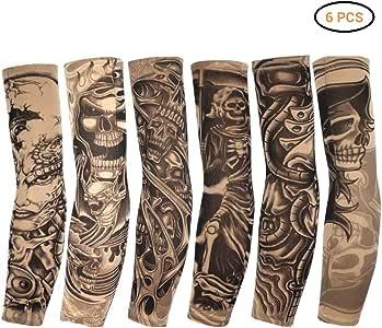 Egosy 6 Piezas Mangas de Tatuaje Tatoo Brazo Medias Brazo Medias ...