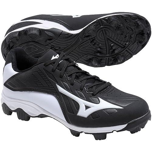 a7abd566491 Mizuno 9Spike Advanced Franchise 8 Low Youth Baseball Cleat 12K Black-White