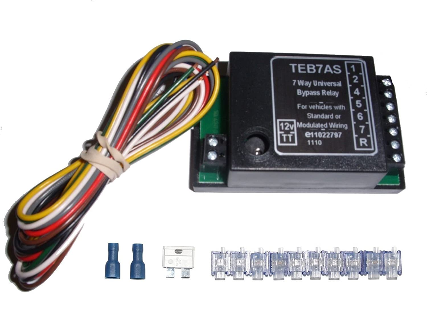 Universal 7 Way Bypass Relay Towing Electrics Towbar Wiring Kit Utrelayaccspzmuk1 Car Motorbike