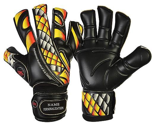 2 opinioni per GK Saver- Guanti da portiere calcio Prime Fire, colore nero, modello piatto con