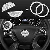 JINGSEN Bling Bling Bling Bling Car volante diamante cristal decalque decoração decalque adesivo adequado para Nissan Maxxima