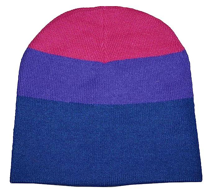 Phosu Bisexual Beanie Knit Hat Pink Purple Blue at Amazon Women s ... 6fd4790220b