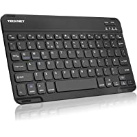 TeckNet Bluetooth Ultra-Slim Wireless Keyboard with Built-in Li-polymer Rechargeable Battery for All iOS, Mac, iPad, Windows and Android 3.0 and above OS