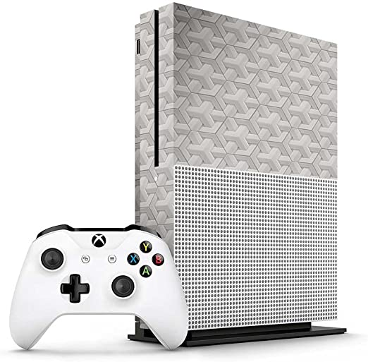 Xbox One S White Porcelain Geometric Tiles Console Skin / Cover ...