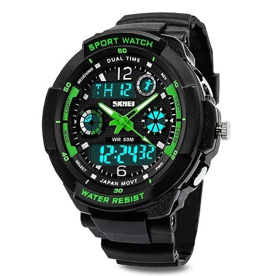 l'atteggiamento migliore 7eca3 c5b04 Topcabin Digital-Analog bambini sport orologio digitale con sveglia  cronometro cronografo – 50 m impermeabile