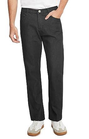 bd7c710d86 9 Crowns Essentials Men's Straight Fit Dark Wash Denim Jeans-Rinse Black-32  X