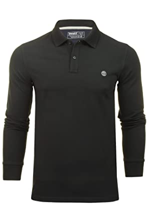 Timberland LS Millers River Polo Slim para Hombre Negro ...