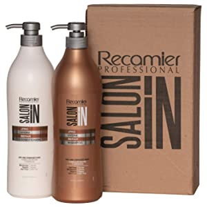 RECAMIER Salt Free Shampoo Repair and Ultra Hydrate Conditioner Hair Treatment Set | Champu y Acondicionador de Cabello 33.3 OZ