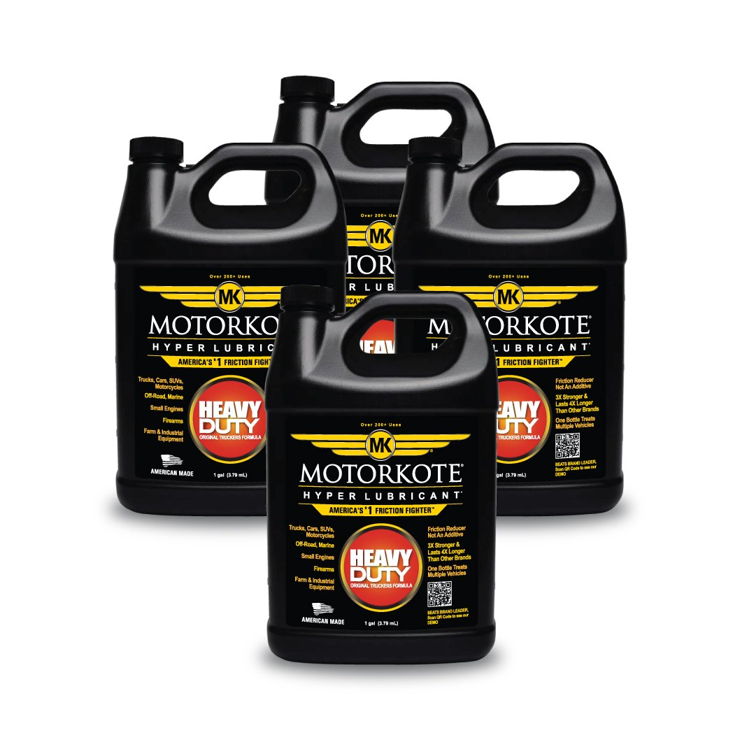 Motorkote (MK-ET01G-04-4PK) Black Hyper Lubricant - 1 Gallon, (Pack of 4)