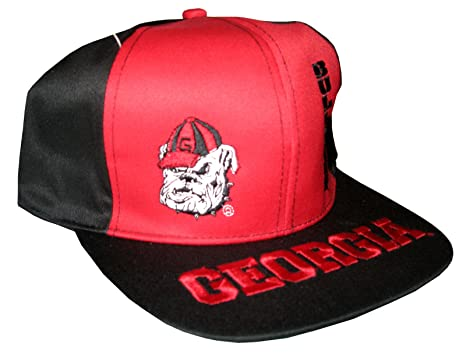 87a5dcd4843 Drew Pearson Men s Vintage Snapback Cap Nos Georgia Bulldogs Adjustable  22.05 Inch - 23.62 Inch Red