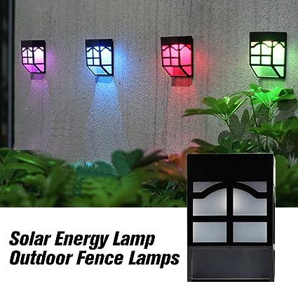 4pcs Waterproof Solar Power Led Light Wall-mounted Lamp For Garden Path Courtyard Fence Lights & Lighting