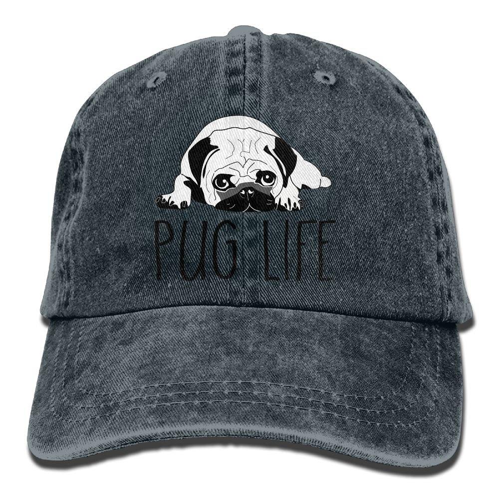 d5a049a6e Pug Life Denim Baseball Caps Cool Summer Hat Adjustable Cotton Sport ...