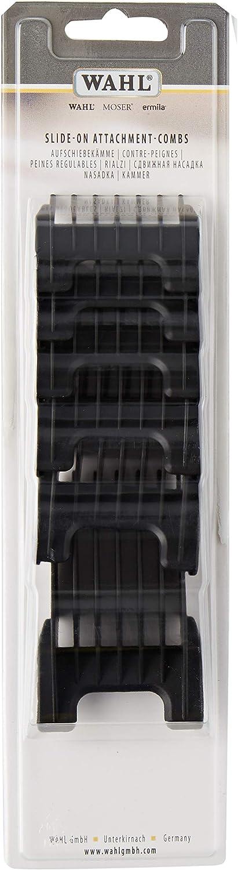 WAHL Peines de plástico Arco, Adelar y Bravura - Color Negro