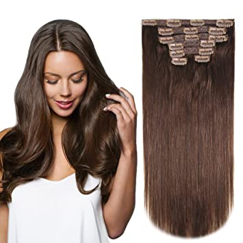 Amazon heesaga 12 inch clip in extensions real human hair heesaga 12 inch clip in extensions real human hair extensions for women beauty 80 pmusecretfo Image collections