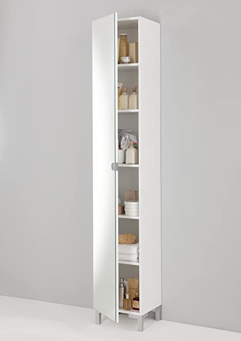 GermanicaTM TARRA Floor Standing Tall Cabinet / Tallboy in White ...