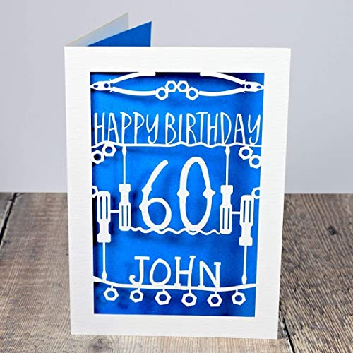 Personalised Birthday Card For Him With Name And Age Idea Engineers Mechanics DIY Dad Grandad Uncle Son Husband Brother Boyfriend