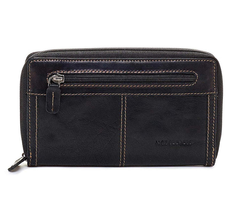 Jack Georges Voyager Large Zip-Around Leather Travel Wallet
