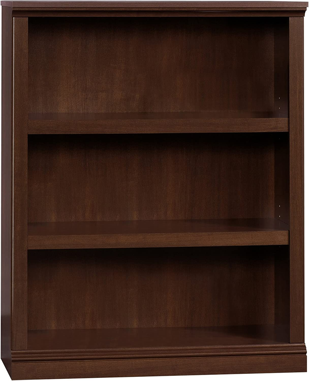 Sauder 3 Shelf Bookcase, L 35.28 x W 13.23 x H 43.78 , Select Cherry finish