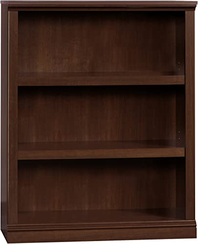 Sauder 3 Shelf Bookcase, Select Cherry finish