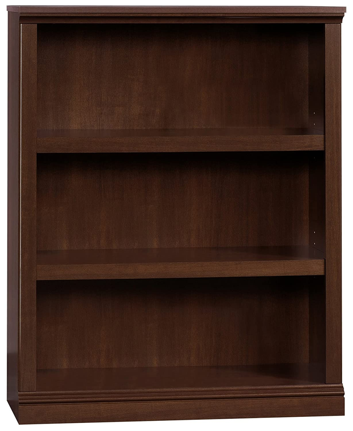 "Sauder 412808 3 Shelf Bookcase, L: 35.28"" x W: 13.23"" x H: 43.78"", Select Cherry finish"