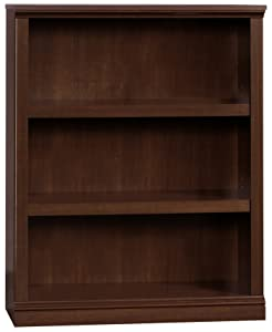 "Sauder 412808 3 Shelf Bookcase, L: 35.28"" x W: 13.23"" x H: 43.78"", Select Cherry finish"