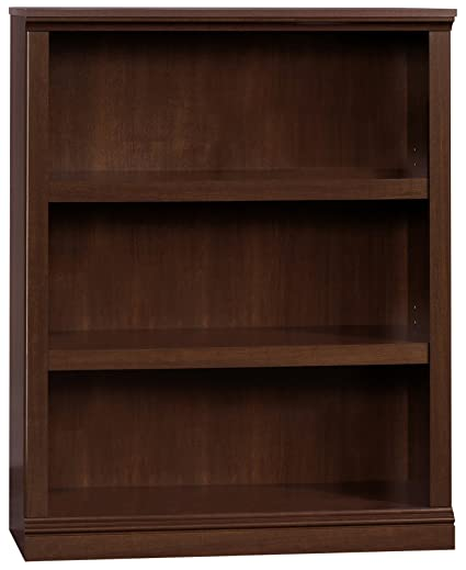Sauder 412808 Select 3 Shelf Bookcase Cherry Finish