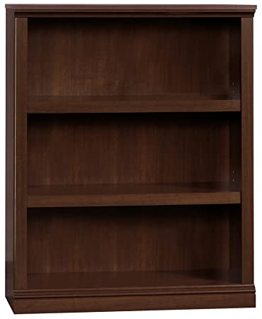 Sauder 412808 3 Shelf Bookcase, L 35.28 x W 13.23 x H 43.78 , Select Cherry finish