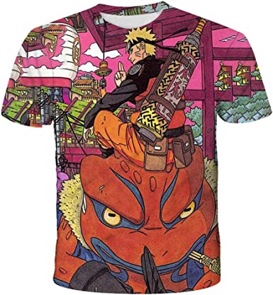 Naruto Camiseta Ninjutsu Estampado 3D T Shirt Uchiha Japonesa ...