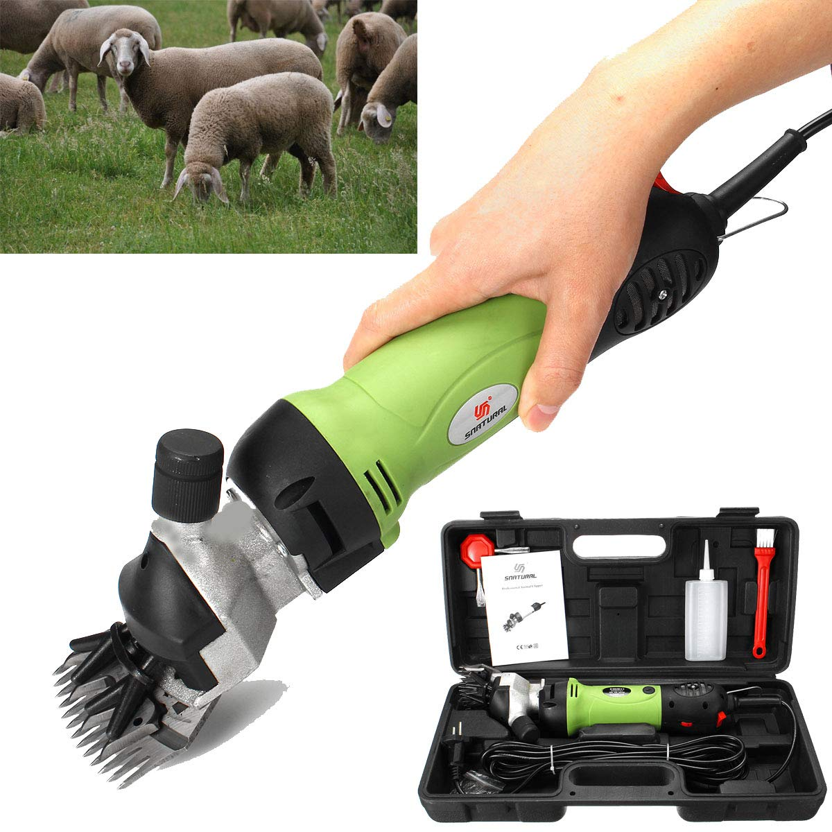 LIJUEZL 320W Elettrico Shearing Clipper Shear Pecore capre Alpaca Animali Farm Forniture