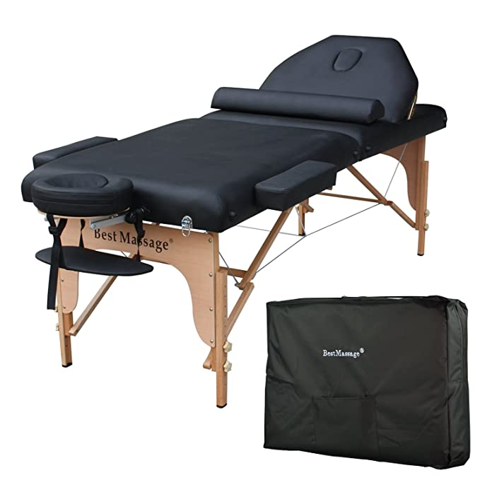 """77"""" Long 30"""" Wide 4"""" Pad Massage Table with Free Carry Case and Bolster"""