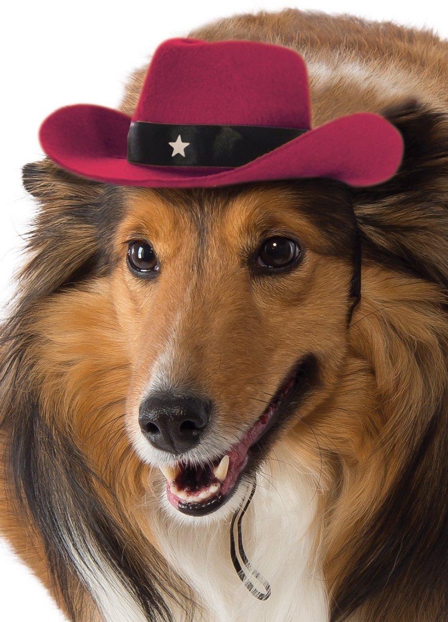 Small//Medium Rubies Costume Co Red Cowboy Hat Dog Costume