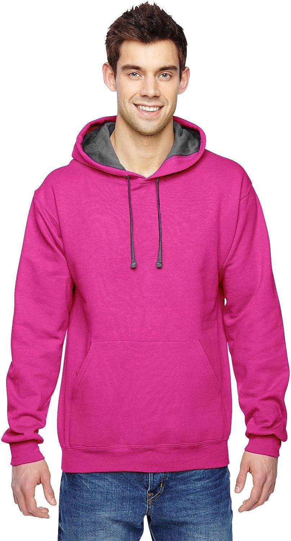 Fruit of the Loom Adult 72 oz Sofspun Hooded Sweatshirt - White - 2XL - (Style # SF76R - Original Label) 712mw8gqqtL