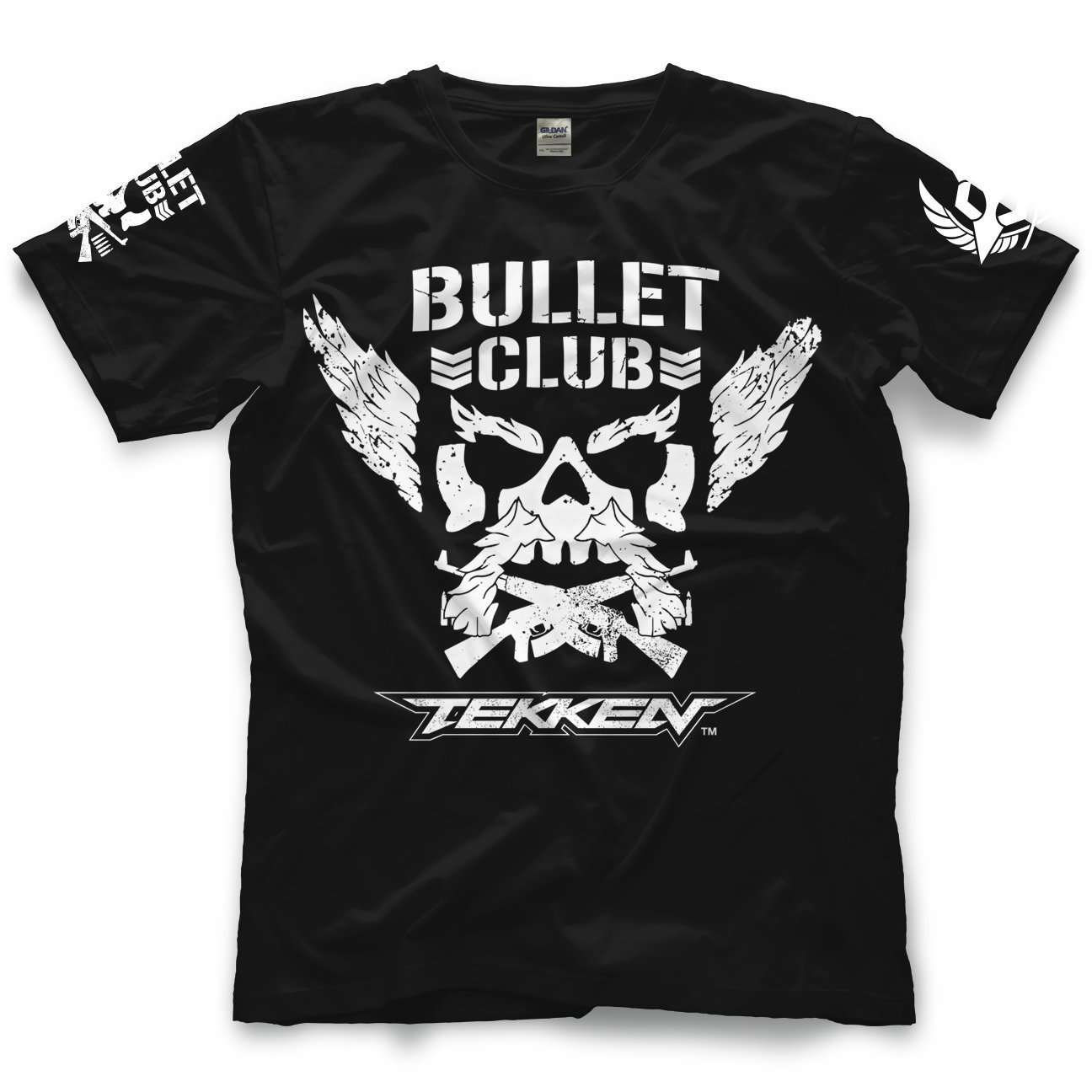 Adult Mens/Unisex New Japan Pro-Wrestling Bullet Club x Tekken Tee - Black by Pro Wrestling Tees